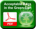 Acceptable Bags  in the Green Cart